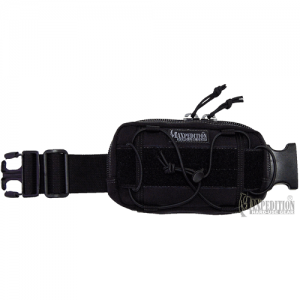 Maxpedition Janus Extension Pocket Grimeproof/Waterproof Waist Pack in Black 1000D Nylon - 8001B
