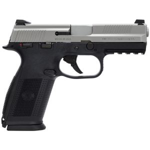 """FN Herstal FNS-9 9mm 10+1 4"""" Pistol in Stainless Steel (Manual Safety) - 66932"""