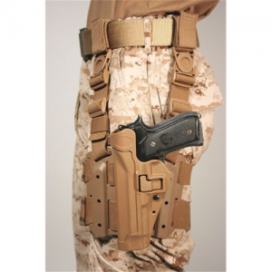 "Blackhawk Serpa Left-Hand Thigh Holster for Beretta 92 in Matte Tan (5"") - 430504CT-L"