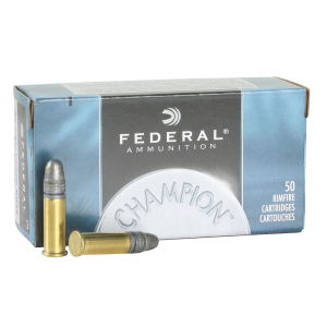 Federal Cartridge Champion .22 Long Rifle Solid, 40 Grain (50 Rounds) - 510