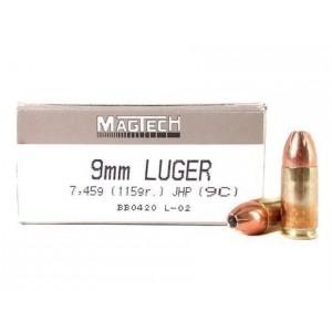 Magtech Ammunition Sport 9mm Jacketed Hollow Point, 115 Grain (50 Rounds) - 9C