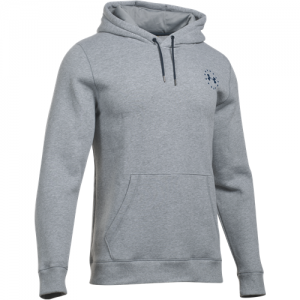 Under Armour Charged Cotton Storm Men's Pullover Hoodie in True Gray Heather (FW16) - Small