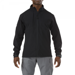 5.11 Tactical Sierra Softshell Men's Long Sleeve Shirt in Black - 2X-Large