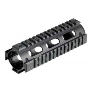 Leapers, Inc. - Utg Model 4/15 Quad Rail, Fits Ar Rifles, Carbine Length, Black Mtu001