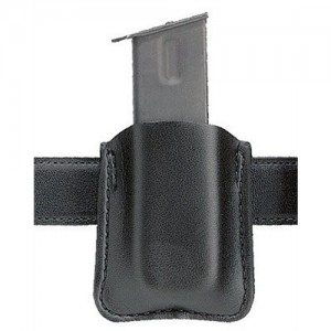 Safariland Single Mag Pouch Magazine Pouch in Black Plain Leather - 81832