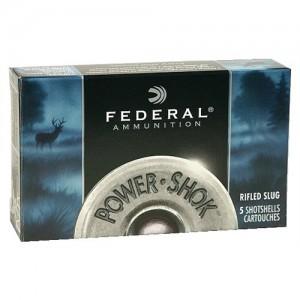 "Federal Cartridge Power-Shok .20 Gauge (2.75"") Slug (Rifled) Lead (5-Rounds) - F203RS"