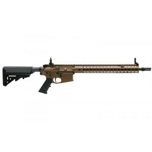 "Knights Armament Company Sr-15 Mod2, Semi-automatic Rifle, 223 Rem/556nato, 16"" Hammer Forged, Chrome Lined Barrel, 1:7 Twist, Burnt Bronze Finish With Black Controls, Sopmod Stock, 600m Micro Adjust Sights, 30rd, E-3 Bolt, Ambi-safety 31030-brz"