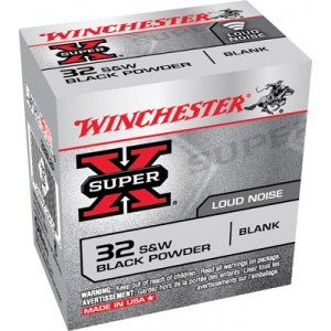Winchester 32 S&W Super X Black Powder Blanks 50 Count Box 32BL2P