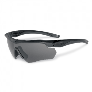 Crossbow ONE - Black frames w/interchangeable Photochromic Lens. Small zippered hard case & microfiber cleaning pouch