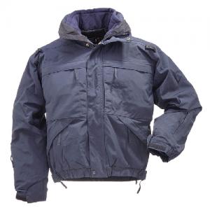 5.11 Tactical 5-In-1 Men's Full Zip Coat in Dark Navy - Large