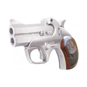 "Bond Arms Texas Defender .22 Winchester Magnum 2-Shot 3"" Derringer in Stainless - BATD22MAG"