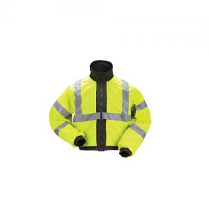 5.11 Tactical Reversible High-Viz Duty Men's Full Zip Jacket in Black - 2X-Large