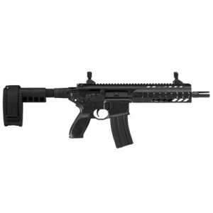 "Sig Sauer MCX .223 Remington/5.56 NATO 30-Round 11.5"" Semi-Automatic Rifle in Black (Aluminum KeyMoad Rail & Folding Sights) - RMCX-11B-TFSAL-SBR"