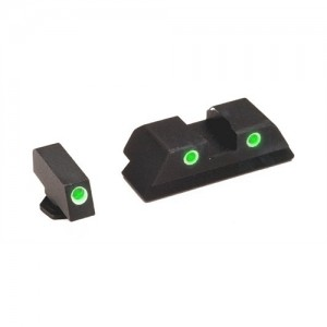 Ameriglo Green Front/Rear Classic Night Sights For Glock 45/10MM Caliber GL119