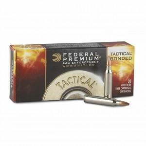 Federal Cartridge .223 Remington/5.56 NATO Bonded Soft Point, 55 Grain (20 Rounds) - LE223T1
