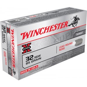 Winchester Super-X .32 S&W Lead Round Nose, 85 Grain (50 Rounds) - X32SWP
