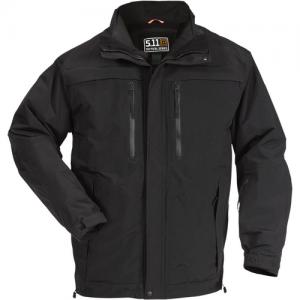 5.11 Tactical Bristol Parka Systems Men's Full Zip Coat in Black - Large