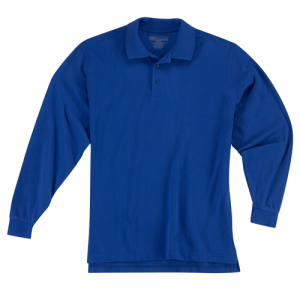5.11 Tactical Professional Men's Long Sleeve Polo in Academy Blue - X-Large