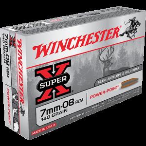Winchester Super-X 7mm-08 Remington Power Max Bonded, 140 Grain (20 Rounds) - X708BP