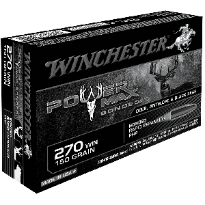 Winchester Super-X .270 Winchester Power Max Bonded, 150 Grain (20 Rounds) - X2704BP