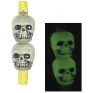 5ive Star - Skull Beads Color: Antique Nite Glow Pack of 50