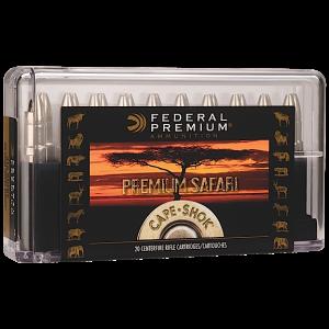Federal Cartridge Cape-Shok Dangerous Game 9.3X62 Mauser Swift A-Frame, 286 Grain (20 Rounds) - P9362SA