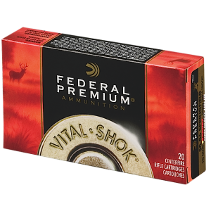 Federal Cartridge Vital-Shok Big Game 7mm Winchester Short Magnum Trophy Copper, 150 Grain (20 Rounds) - P7WSMTC3