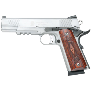 "Smith & Wesson 1911 .45 ACP 8+1 5"" 1911 in Stainless Steel (E Series Tactical Rail) - 108411"