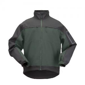 5.11 Tactical Chameleon Softshell Men's Full Zip Jacket in Moss - Large