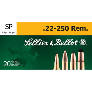 Magtech Ammunition .22-250 Remington Soft Point, 55 Grain (20 Rounds) - SB22250B