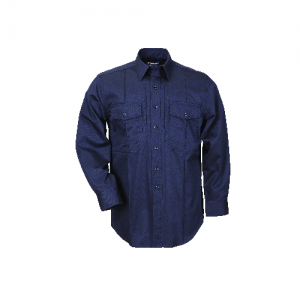 5.11 Tactical Station Shirt Men's Long Sleeve Shirt in Fire Navy - 3X-Large