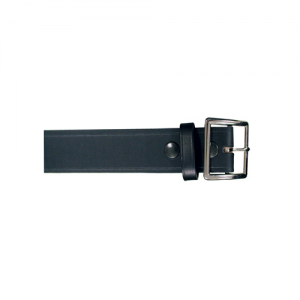 Boston Leather Garrison Belt in Black Plain - 44