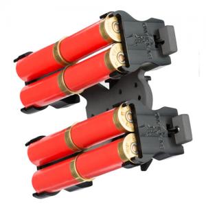 Model 086 Shotgun Shell Holder Mounting System: ELS 34 and 35 (Fork and Receiver) Holds: 8 Color: Black