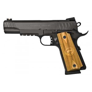 "Chiappa 1911 Custom .45 ACP 8+1 5"" 1911 in Matte Black (Fiber Optic Sights) - 440-030"