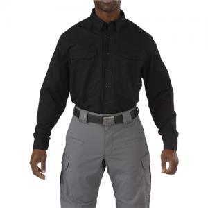 5.11 Tactical Stryke Men's Long Sleeve Uniform Shirt in Black - Medium