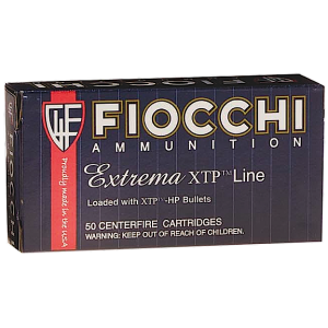 Fiocchi Ammunition .380 ACP XTP Hollow Point, 90 Grain (25 Rounds) - 380XTP25