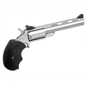 "North American Arms Magnum .22 Long Rifle 5-Shot 4"" Revolver in Stainless (Mini Master) - MMTL"