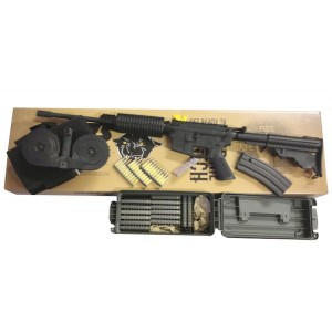 """DPMS AR-15 223 Remington/5.56 NATO SHOOTERS PACKAGE; Includes: DPMS #RFA3OC 16"""" Barrel Optics Ready AR-15, 1-30 Round Magazine, 1-100 Round Drum Magazine #NB-KORAR15100, 300 Round Can of M855 Green Tip #NB-M855-300-CAN ARSHOOTERSPACK01"""
