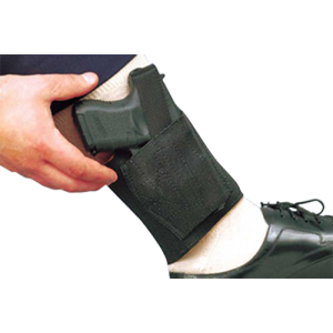 """Desantis Gunhide Apache Right-Hand Ankle Holster for Small Autos in Black (5"""") - 062BASAZ0"""