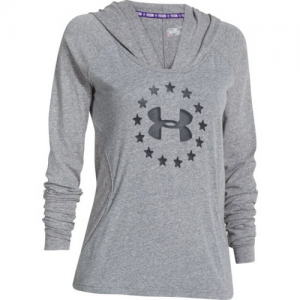 Under Armour Freedom Triblend Women's Pullover Hoodie in Carbon Heather - Medium