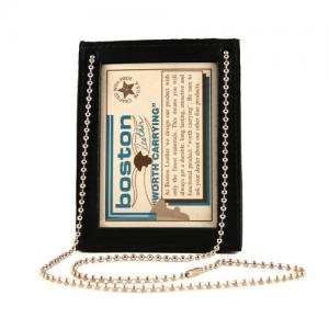 Boston Leather Neck, Pocket, Belt in Black - 5845NPB-1