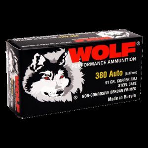 Wolf Performance Ammo Military Classic .380 ACP Full Metal Jacket, 91 Grain (1000 Rounds) - MC917FMJ