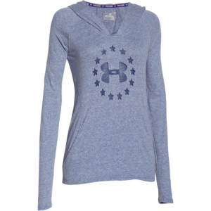 Under Armour Freedom Triblend Women's Pullover Hoodie in Navy Seal - Small