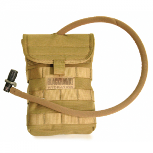 Side Hydration Pouch BK 40 oz.  Side Hydration Pouch Coyote Tan These hydration pouches were designed for those missions where you dont need or want 100oz of water on your back. They hold 40oz each, and can be mounted anywhere on a vest or pack with S.T.R