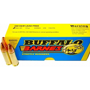 Buffalo Bore Ammunition .500 S&W Barnes XPB, 375 Grain (20 Rounds) - 18D/20