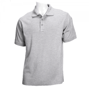 5.11 Tactical Tactical Men's Short Sleeve Polo in Heather Grey - 2X-Large