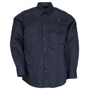 5.11 Tactical Taclite PDU Class B Men's Long Sleeve Uniform Shirt in Midnight Navy - Large
