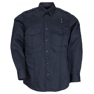 5.11 Tactical PDU Class B Men's Long Sleeve Uniform Shirt in Midnight Navy - 4X-Large