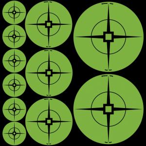 "Birchwood Casey 33938 Target Spots Green Crosshair Self-Adhesive 1""-60/2""-30/3""-"
