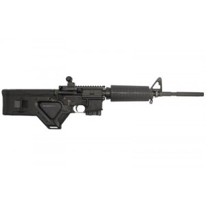 """Stag Arms Llc Model 2f, Semi-automatic Rifle, 223 Rem/556nato, 16"""" Barrel, 1:9 Twist, Black Finish, Hera Cqr Stock, Ambi Safety Selector, M4 Thermoplastic Handguards W/double Heat Shields, Midwest Industries Flip Up Rear Sight, F-marked A2 Front Sight Wit"""